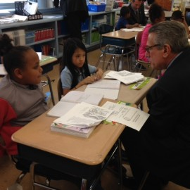 Commissioner Chester Visits Dever Elementary School